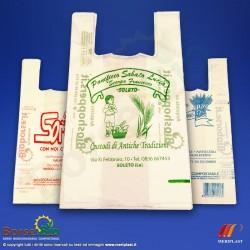 Borsa Bio media con stampa personalizzata colore Verde - Foto prodotto