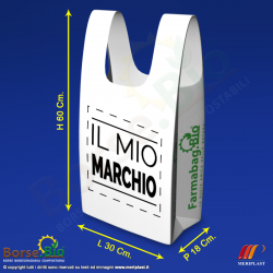 Misure borsa bio maxi personalizzata per Farmacia - Borse.Bio