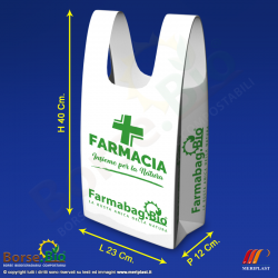 Misure borsa bio mini generica per Farmacia - Borse.Bio
