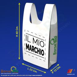 Misure borsa bio mini personalizzata - Borse.Bio