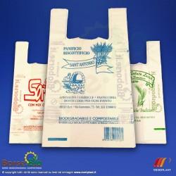 Borsa Bio maxi con stampa personalizzata colore Blu - Foto prodotto