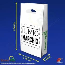 Misure borsa bio maniche a fagiolo personalizzata per Farmacia - Borse.Bio
