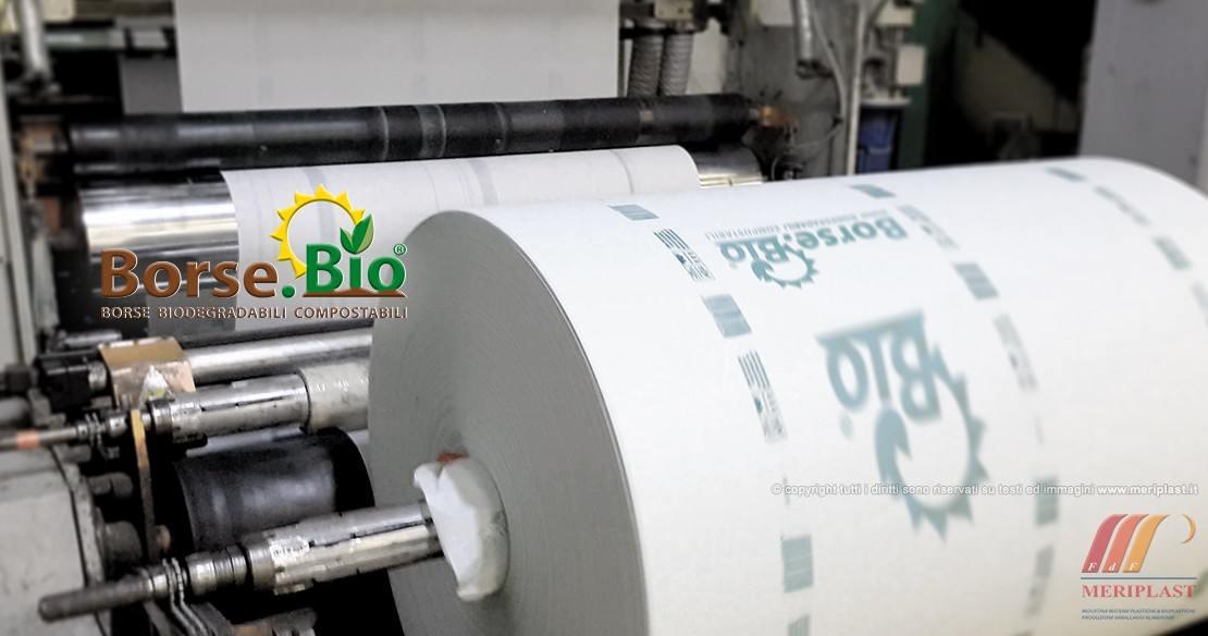 Bobina borse biodegradabili in produzione - Foto 1