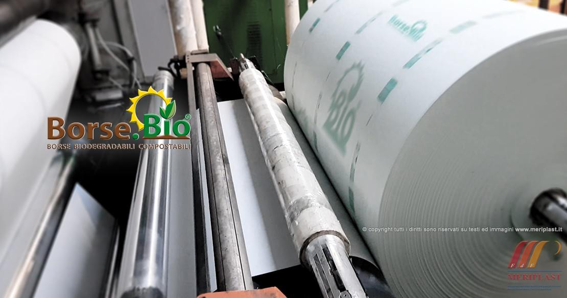 Bobina borse biodegradabili in produzione - Foto 2