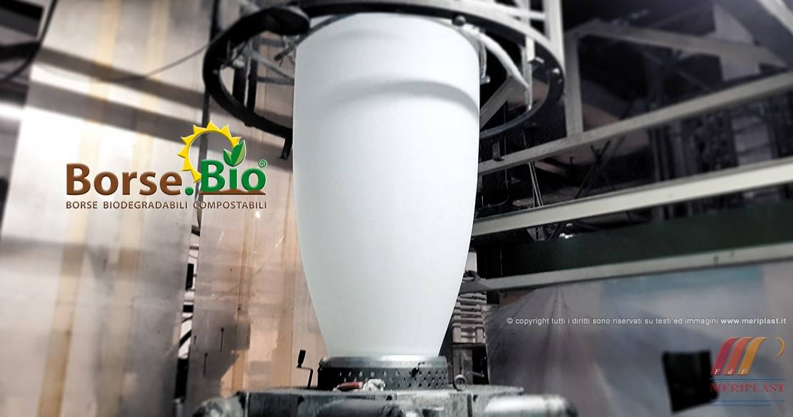 Estrusione bobina produzione borse biodegradabile