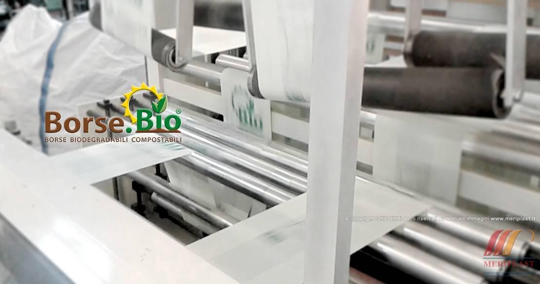 Produzione borse biodegradabili compostabili per shopping